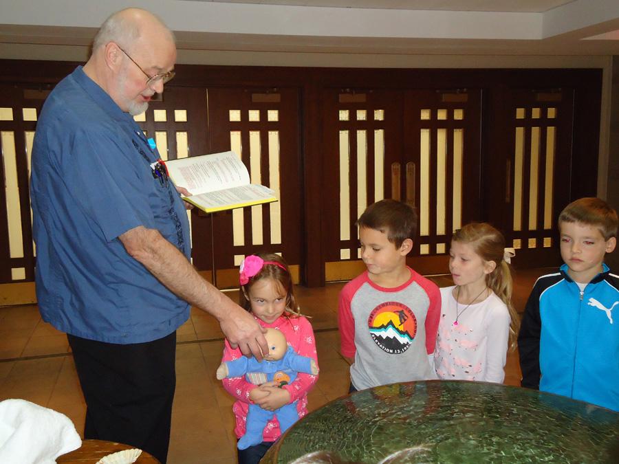 Mock Baptism with Saint Anne Parish School Kindergartners