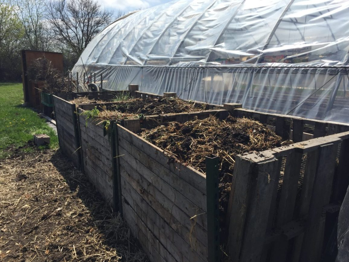 Compost system at the Smart Farm