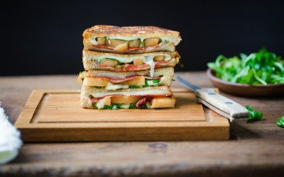 Heinen's 4PM Panic: Kiss Melon Grilled Cheese with Chorizo & Arugula