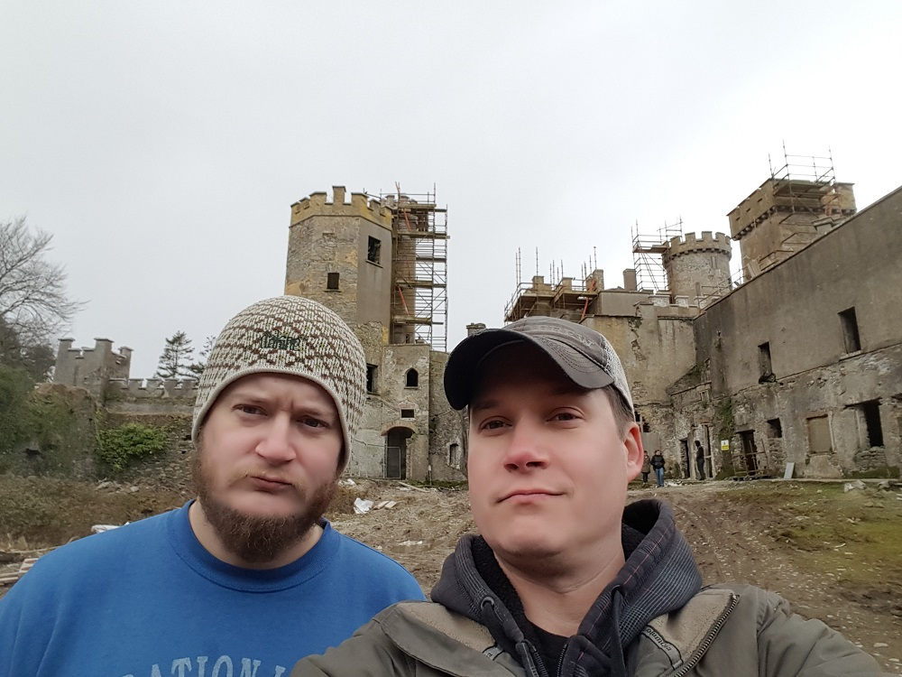 flesk brewing William and James at Flesk Castle in Ireland
