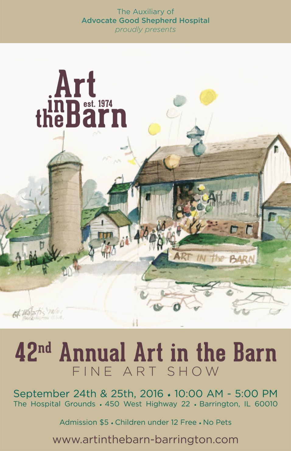 Post 1200 - Art in the barn poster 2016
