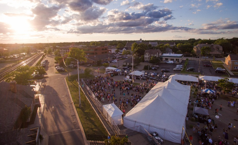 Birdseye View of Uncork Barrington 2016 - Courtesy of Bellwether Creative
