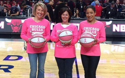 Barrington's Abby Gage joins Advocate Health Care & Chicago Bulls to #PinkOut United Center, Raise Breast Cancer Awareness