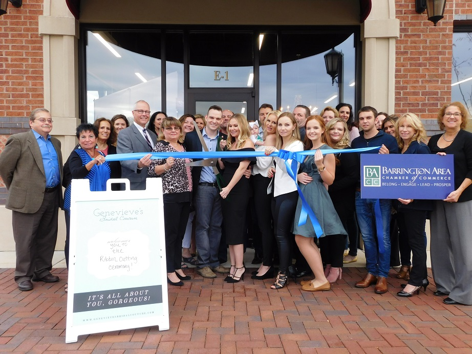 Genevieve's Bridal Ribbon Cutting with the Barrington Area Chamber of Commerce