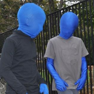 Blue Men at Saint Anne Parish School