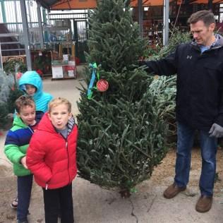 Christmas Tree Shopping at Home Depot