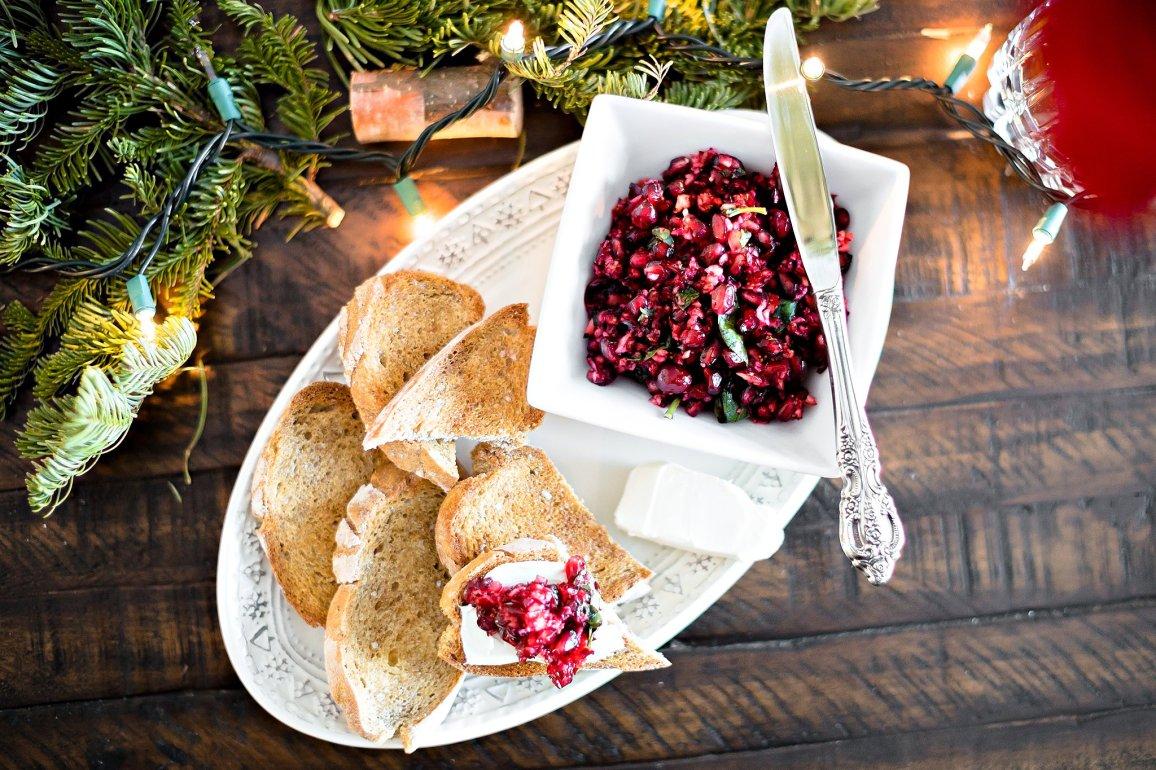 Holiday Brunch Fritatta and Pomegranate Crostini, IL_Modern Farmette_003
