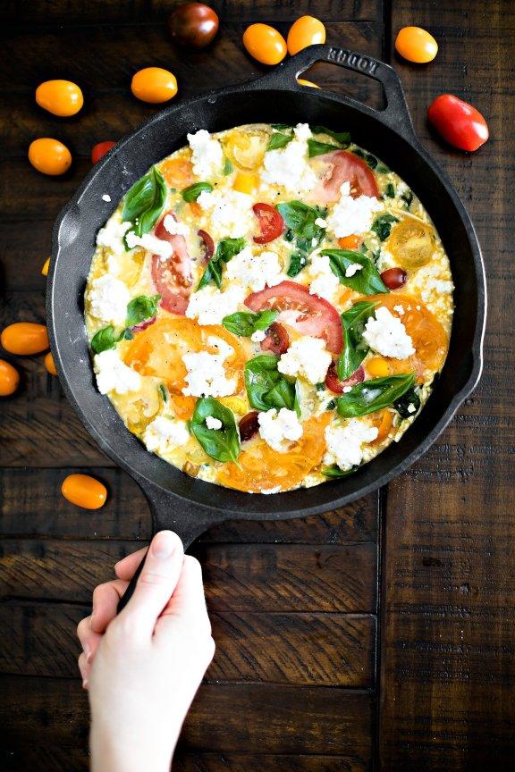 Holiday Brunch Fritatta and Pomegranate Crostini, IL_Modern Farmette_009