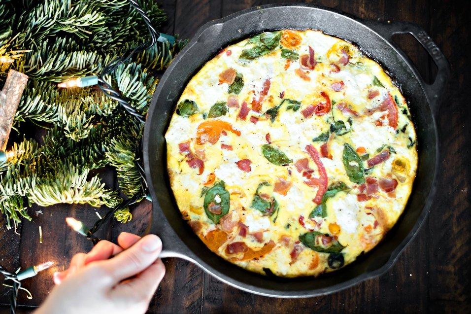 Holiday Brunch Fritatta and Pomegranate Crostini, IL_Modern Farmette_010
