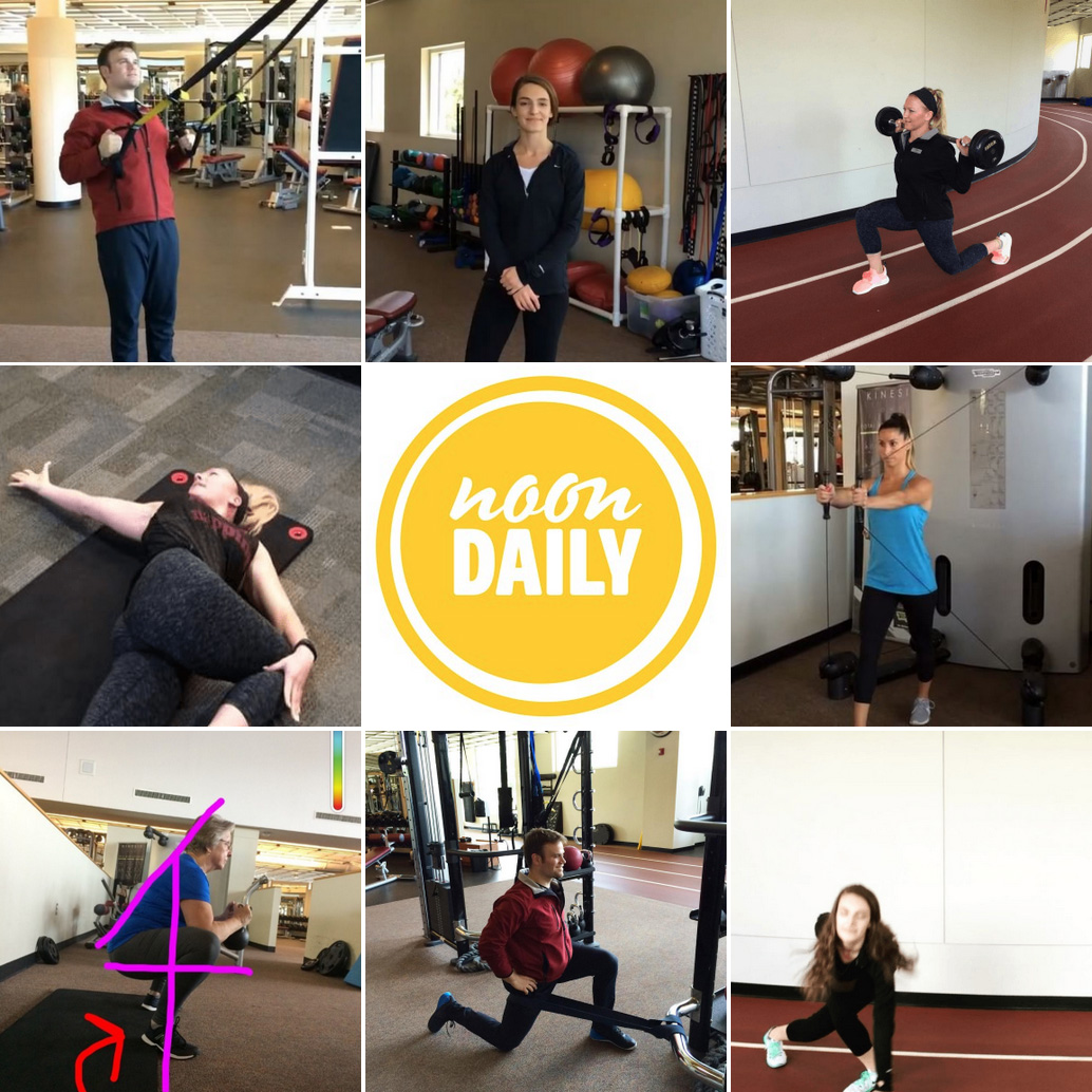 NoonDaily - Advocate Good Shepherd Health and Fitness - Workouts of the Week