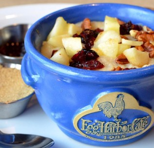 Barrington Eats - Foods to Warm Up in Winter - Egg Harbor Cafe Oatmeal
