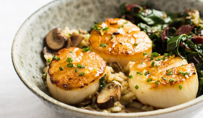 Heinen's-Inspired Valentine's Day Feast Features Scallops, Risotto & Chocolate Budino