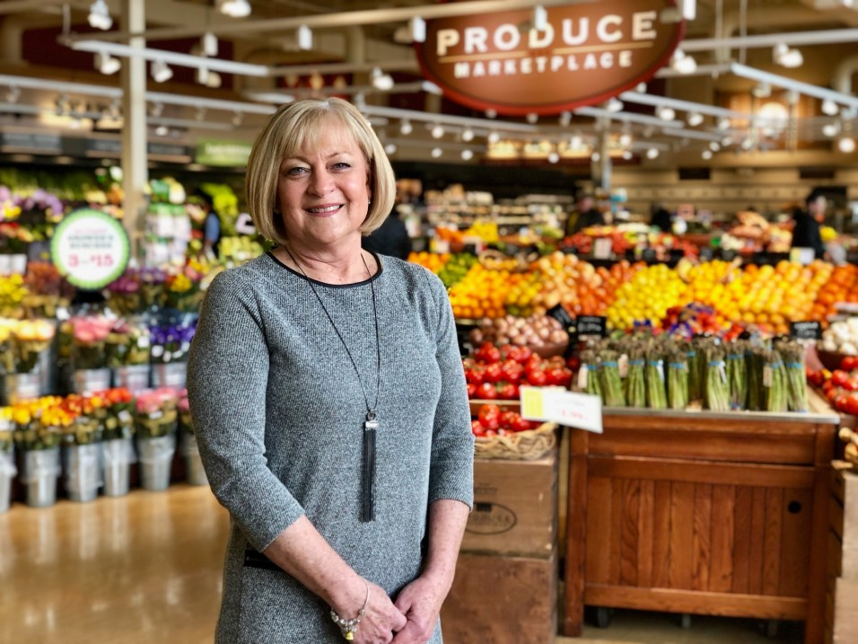 Peg Blanchard at Heinen's Grocery