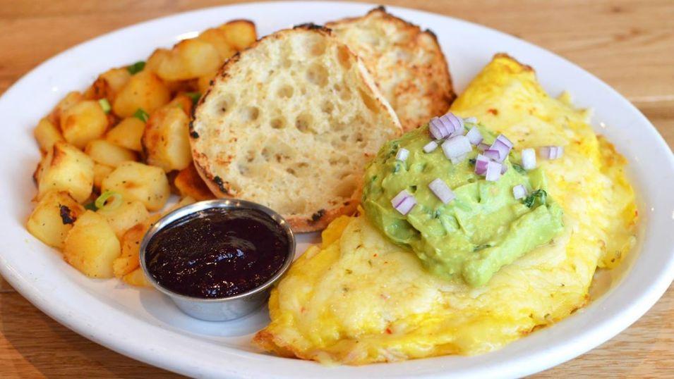 Egg Harbor Café's Guac & Roll Omelette