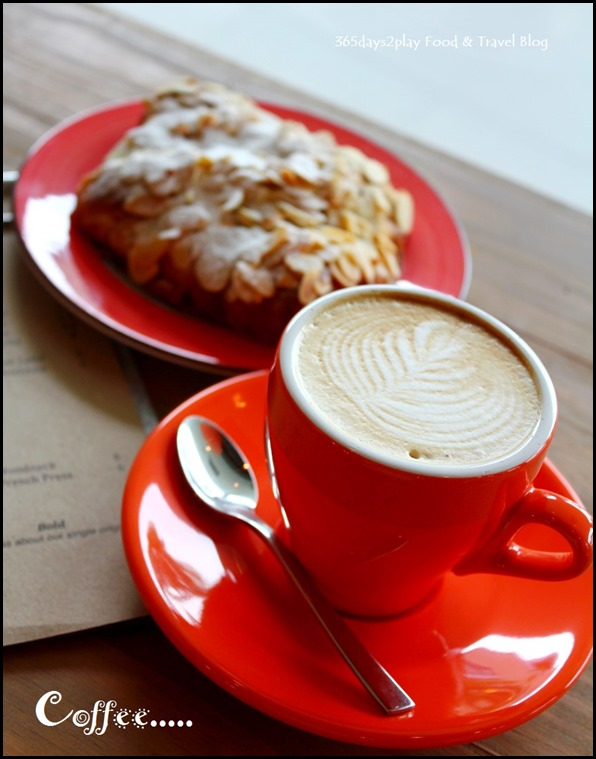 Craftsmen Speciality Coffee - Flat White $4.50 and Almond Croissant $4 (1)