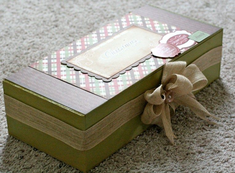 Christmas Traditions gift box with Samantha Walker Paper