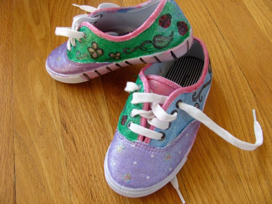 Hand painted sneakers by Jen Goode