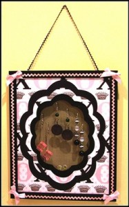 Pink and Black Earring Frame