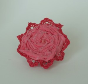 Rolled flower pin