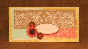 Embossed card with Smooch Ink