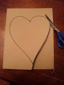 Draw & cut out a heart