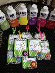 Rit Pajama Party Favors Slumber Party altered mini notebooks