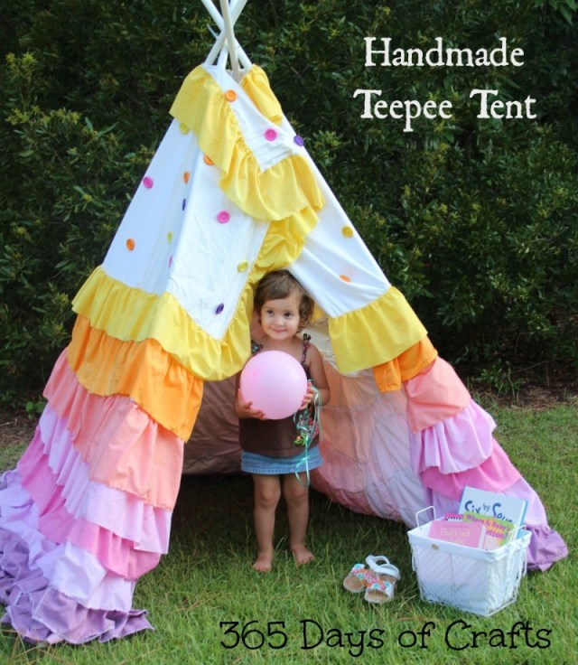 DIY handmade ruffled tent tutorial