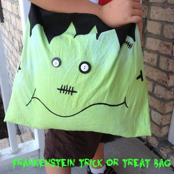 sewn dye crafts, halloween treat bags