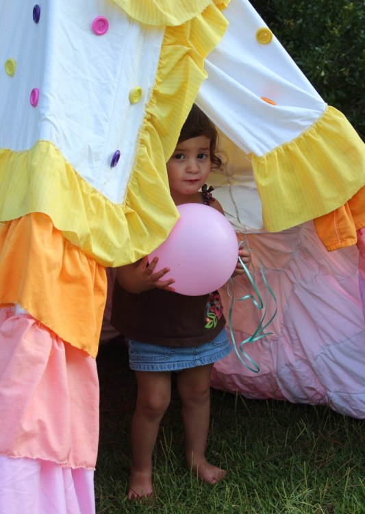 Teepee, Child's Play Tent, Rit Dye Projects