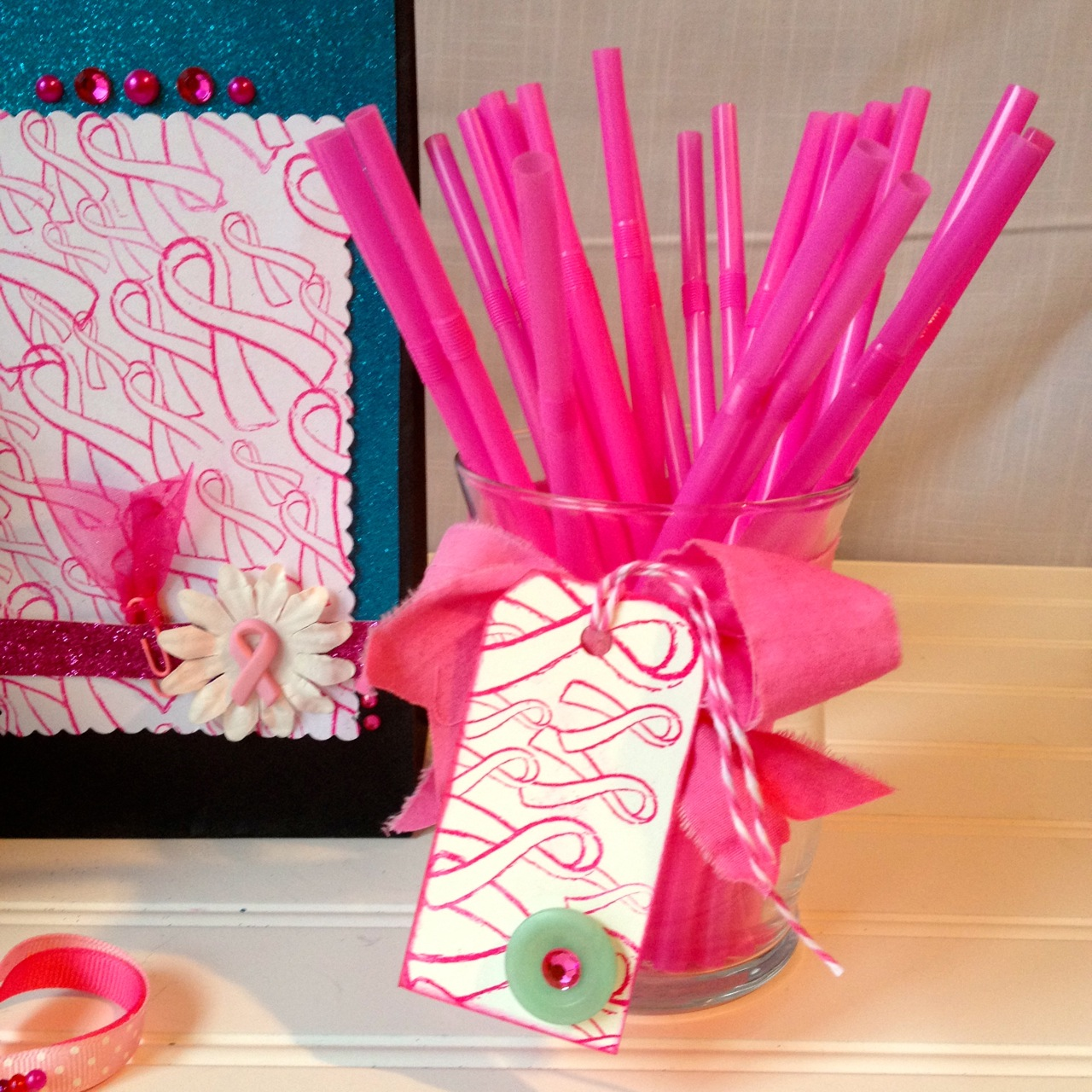 pink ribbon of hope party decorations