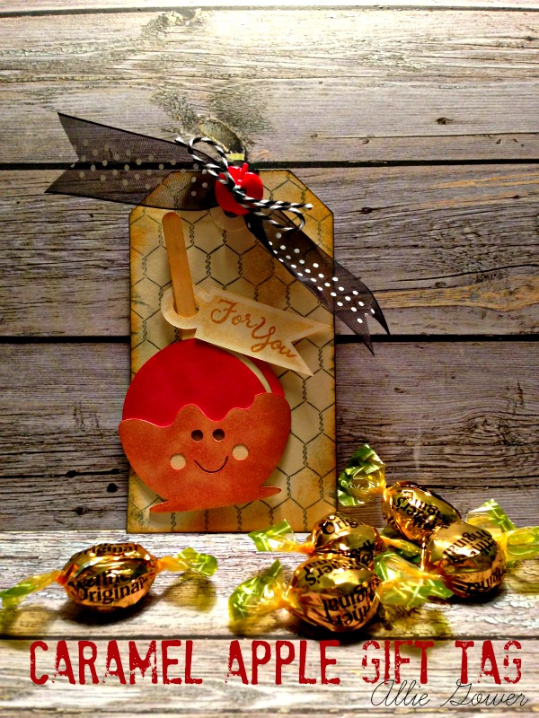 caramel apple gift tag