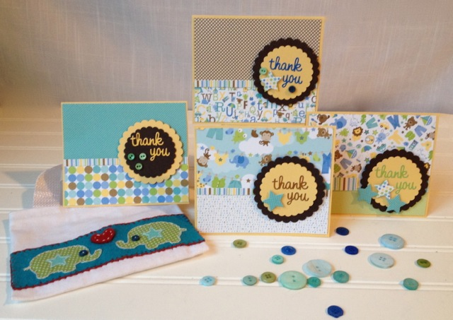 Homemade Baby Shower Thank You Cards 365 Days Of Crafts