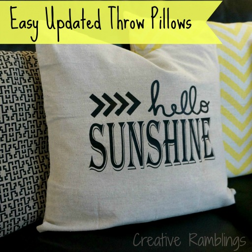 Easy Updated Throw Pillow