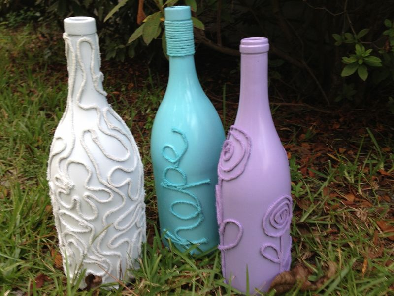 recycled wine bottle art 365 days of crafts inspiration