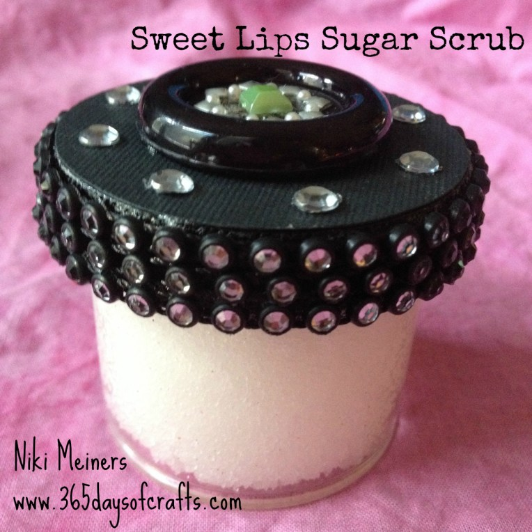 DIY sugar scrub for lips