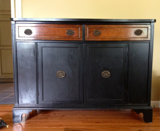 buffet before chalky paint