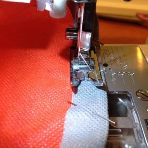 easy sew trim on tote bias tape tutorial