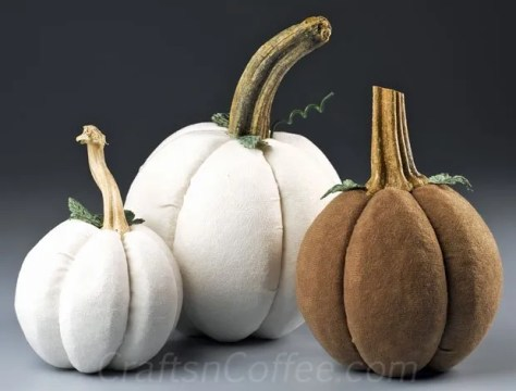 06 - Crafts N Coffee - No Sew Velvet Pumpkins