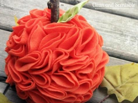 08 - Clean and Scentsible - Ruffled Felt Pumpkin