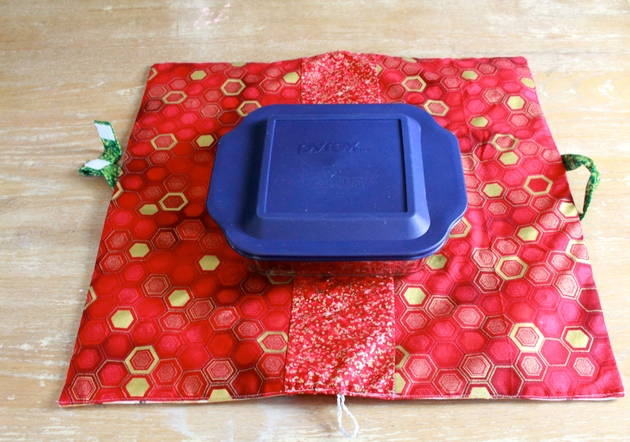 Insulated Casserole Carrier pattern Corn Soufflé recipe