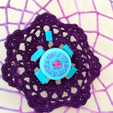 dyed doily dream catcher center
