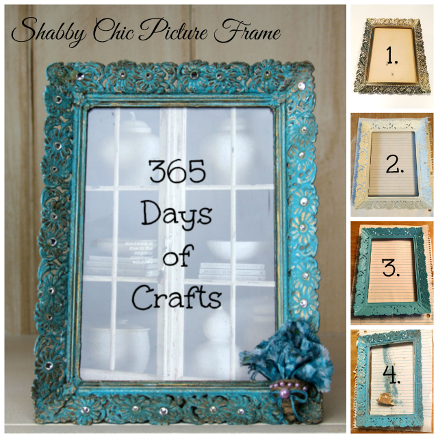 Collage DIY Shabby Chic Picture Frame