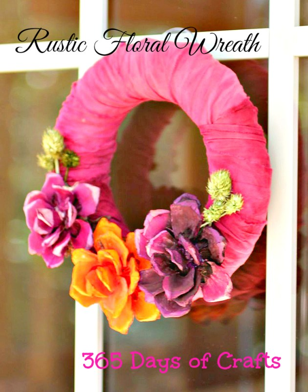 rustic floral wreath Rustic Dyed Floral Wreath