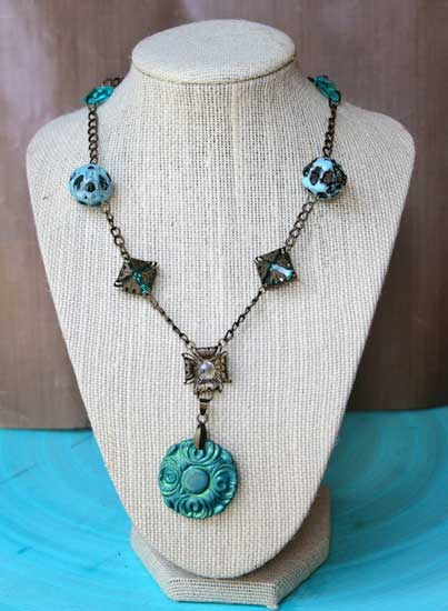 cool hues autumn necklace