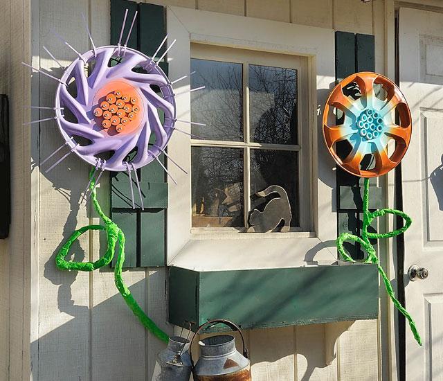 hub cap flowers
