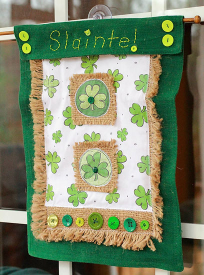 slainte st patrick's day craft irish crafts St. Patrick's Day Craft -sláinte flag