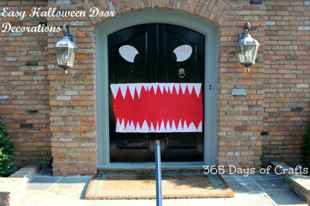 halloween door decorations make a monster mouth for your front door i chose to use olyfun from fairfield processing because it is available in walmart