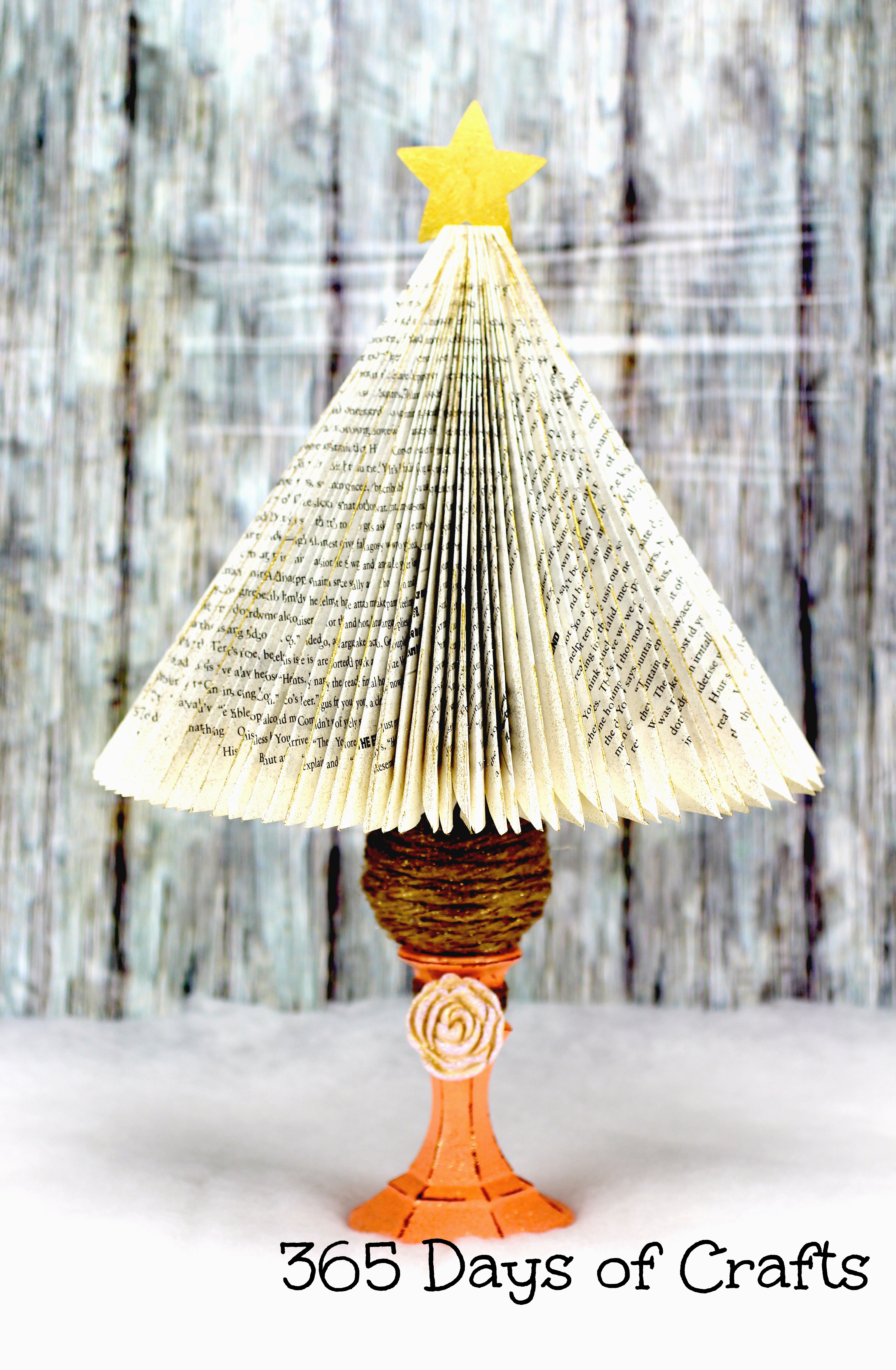 Christmas tree book craft 365 days of crafts inspiration for Christmas tree made from old books
