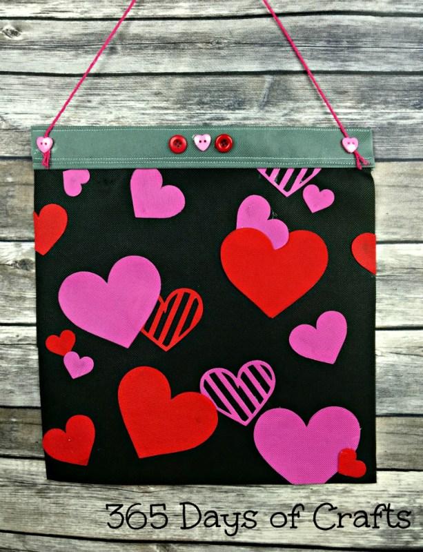 Valentine heart flag