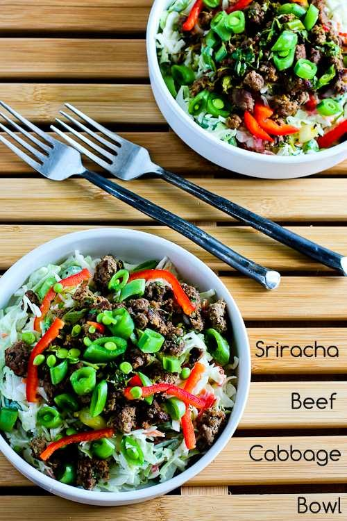 11 - Kalyns Kitchen - Sriracha Beef Cabbage Bowl